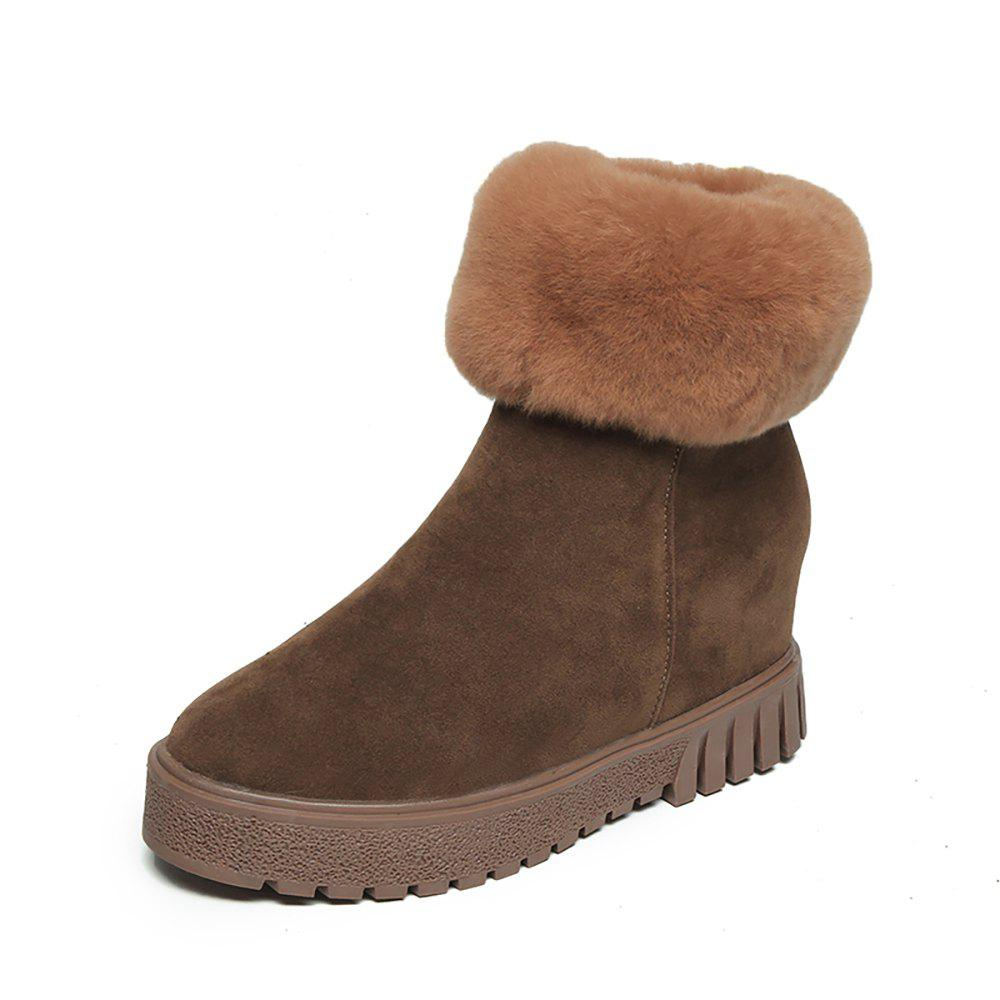 Latest Warm Cotton Boots Thick Bottom Snow Boots Internal Increase Women'S Boots