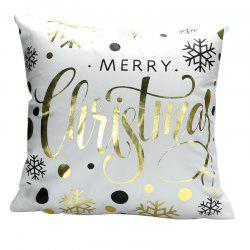 Square velvet hot stamping pillowcase -