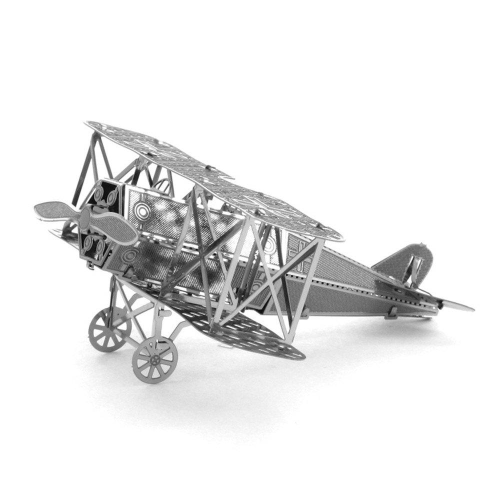 Biplane Fighter 3D Metal High-quality DIY Laser Cut Puzzles Jigsaw Model Toy