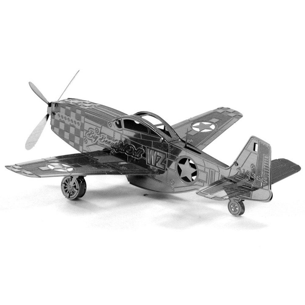 Mustang Aircraft 3D Metal High-quality DIY Laser Cut Puzzles Jigsaw Model Toy