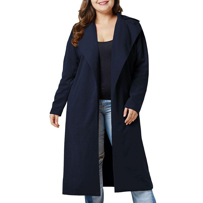 Outfits Solid Color Lapel Woolen Overcoat