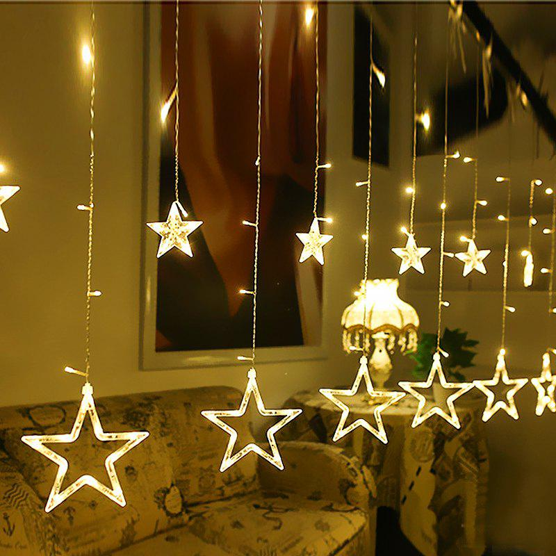 Cheap Twinkle 12 Stars LED Curtain String Window Curtain Lights for Christmas