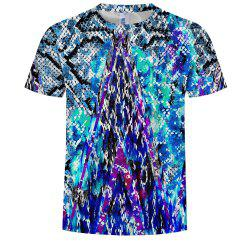 Fashion Digital Printing Round Neck Men's Casual Short-Sleeved T-Shirt -