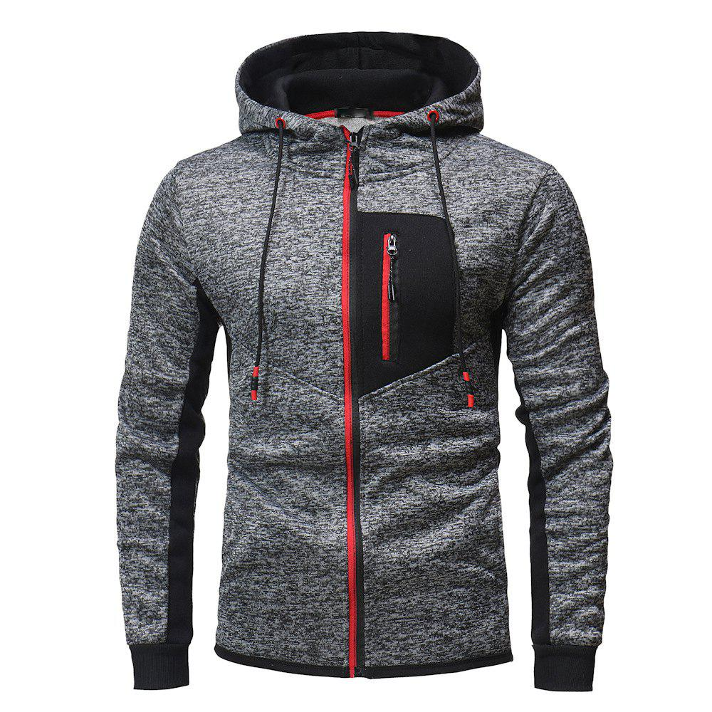 Latest Zipper Stitching Men's Hooded Sweater Outdoor Mountaineering Sweater
