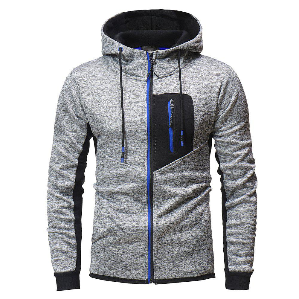 Cheap Zipper Stitching Men's Hooded Sweater Outdoor Mountaineering Sweater