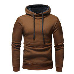 Fashion Casual Hooded Head Men's Solid Color Sweater -