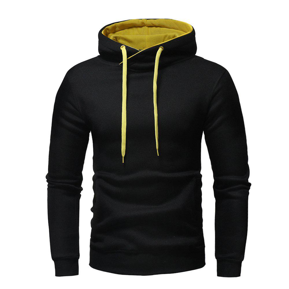 Hot Fashion Casual Hooded Head Men's Solid Color Sweater