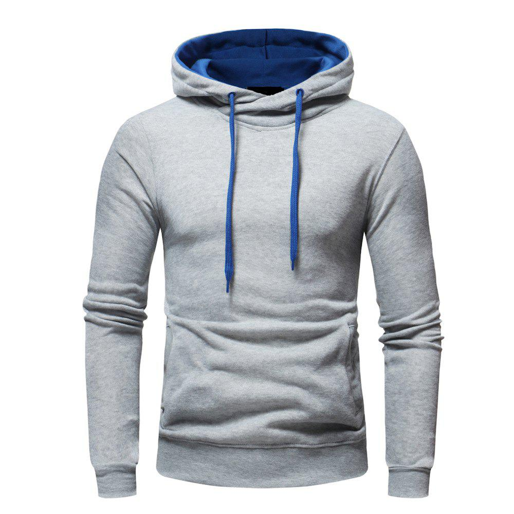 Fancy Fashion Casual Hooded Head Men's Solid Color Sweater