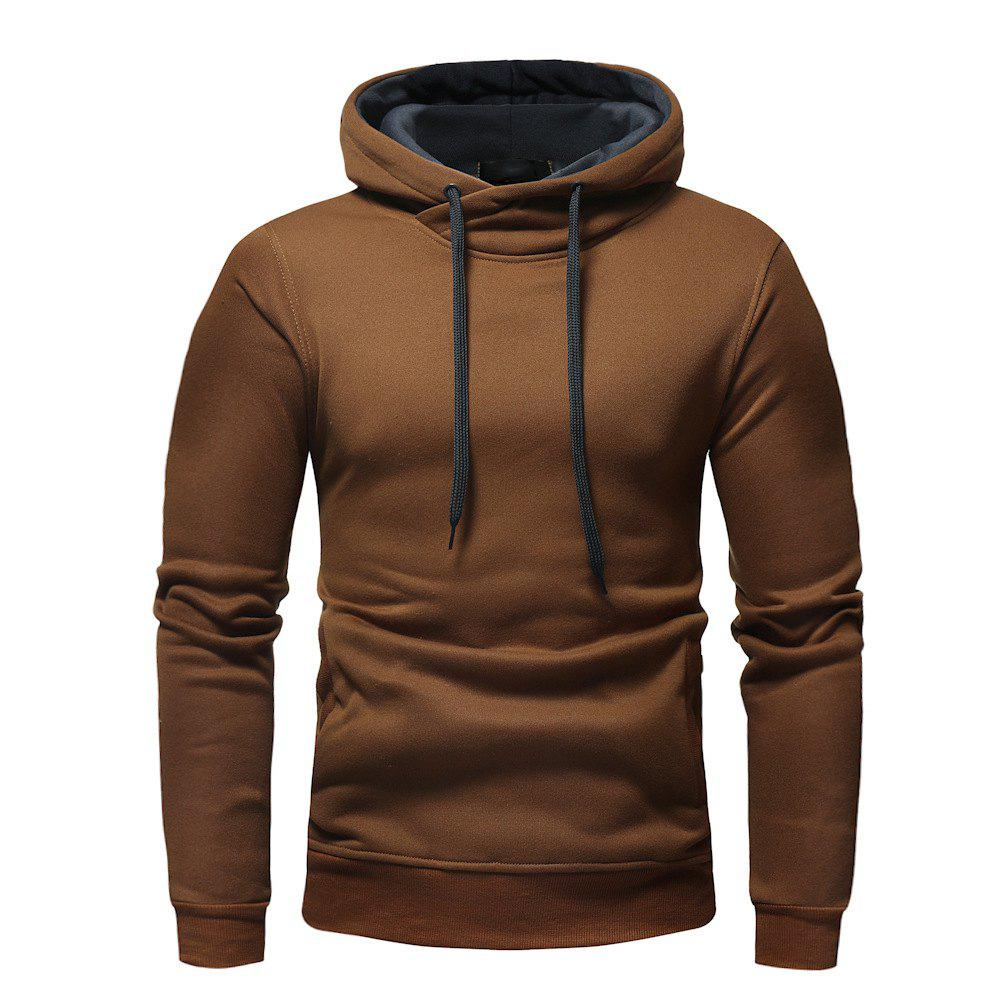 Discount Fashion Casual Hooded Head Men's Solid Color Sweater