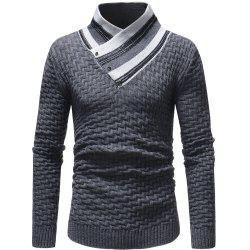Rayures couture couture pull pull mode hommes occasionnels -