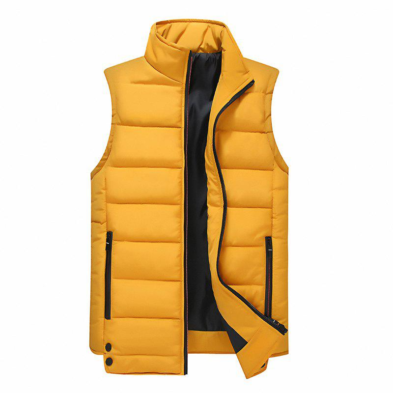 Sale Zipper Pocket  Collarless Quilted Vest