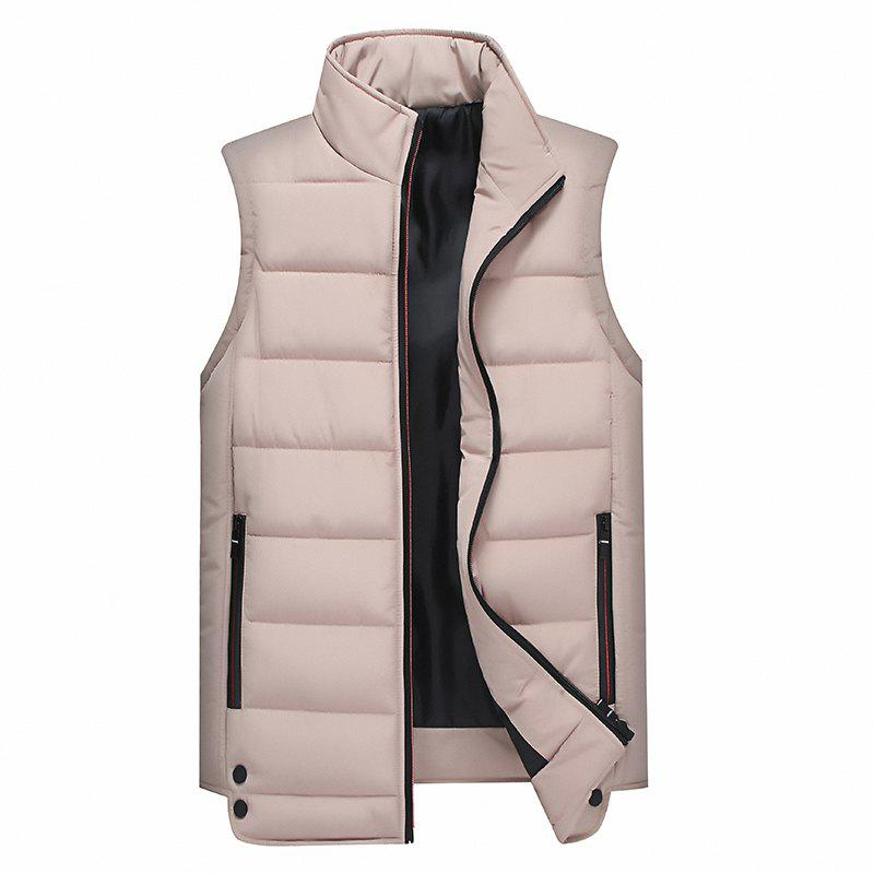 Online Zipper Pocket  Collarless Quilted Vest