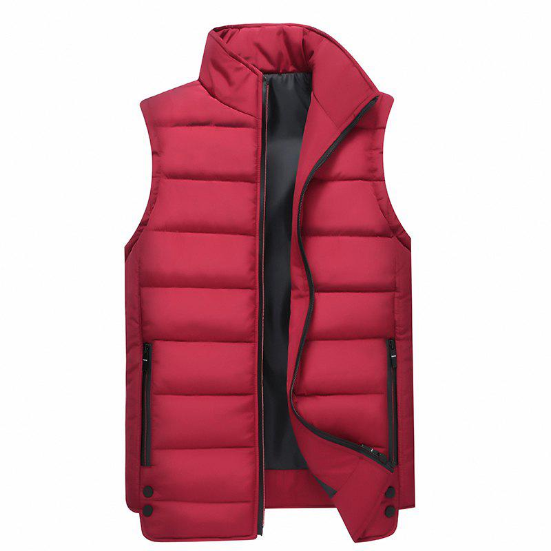 Discount Zipper Pocket  Collarless Quilted Vest