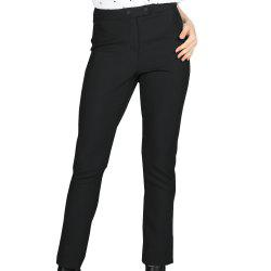 SBETRO Office Lady Pantalons avec boutons Zipper Jean skinny solide -