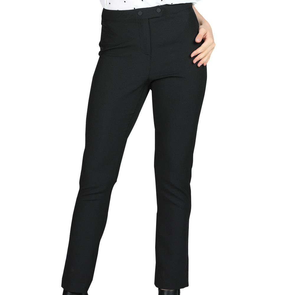 SBETRO Office Lady Pantalons avec boutons Zipper Jean skinny solide