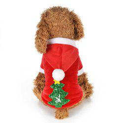Christmas Pet Supplies Snow Tree Dog Winter Clothing -