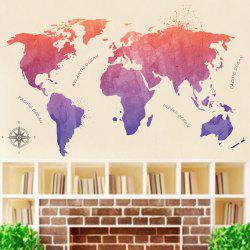 Carte de couleur PVC Sticker mural -