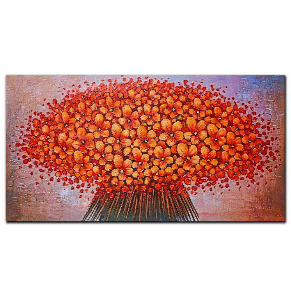 YISHIYUAN 1 шт. HD-струйные краски Red Abstract Flower Decorative Painting