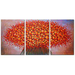 YISHIYUAN 3 шт. HD-струйные краски Red Abstract Flower Decorative Painting -