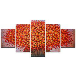 YISHIYUAN 5 шт. HD-струйные краски Red Abstract Flower Decorative Painting -