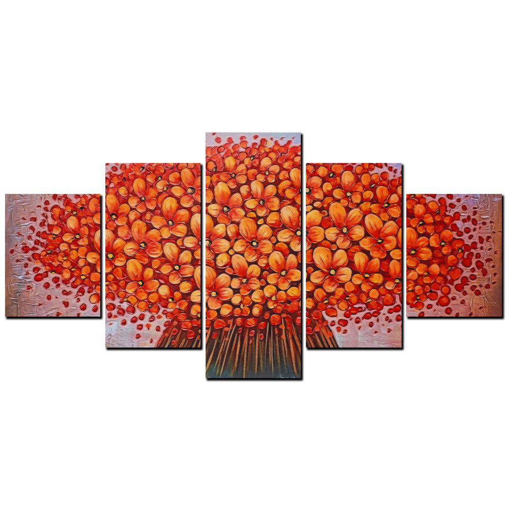 YISHIYUAN 5 шт. HD-струйные краски Red Abstract Flower Decorative Painting