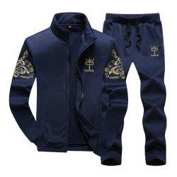 Men'S Long-Sleeved Sports Casual Jacket Running Suit Size Up To 9XL -