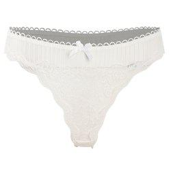 MISSOMO Sexy Lace Stitching Bow Perspective Panties Different Colors -
