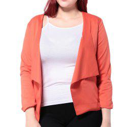 HAODUOYI Women'S OL Large Lapel Temperament Slim Casual Blazer Red -
