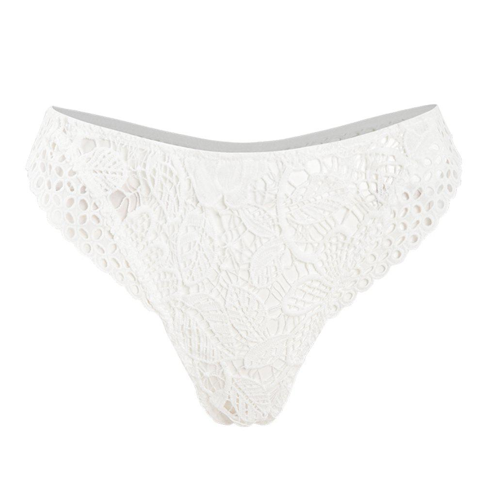 Sale HODOYO Flower Embroidered Lace Knickers White