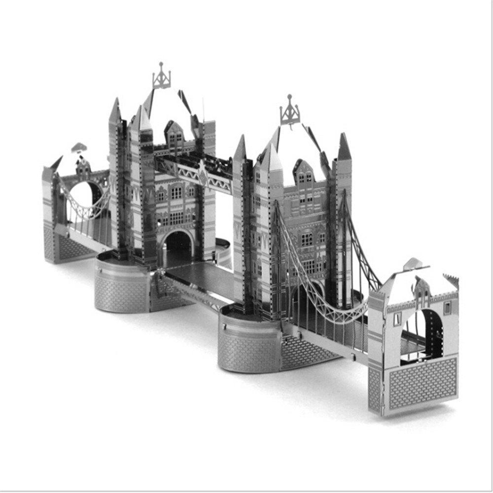 London Tower Bridge 3D Metal High-quality DIY Laser Cut Puzzles Jigsaw Model Toy