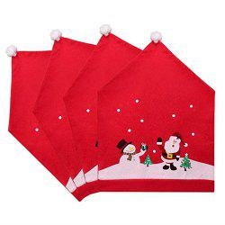 Santa Hat Chair Covers Red  (Set of 4) For Christmas Holiday Festive Decor -