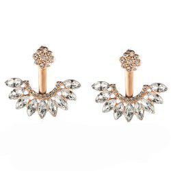 Sweet and Fashionable Daisy Ear Stud Made of Zircon Alloy -