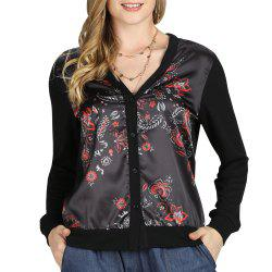 SBETRO Chinoiserie Cardigan À Manches Longues En Tricot Cardigan -