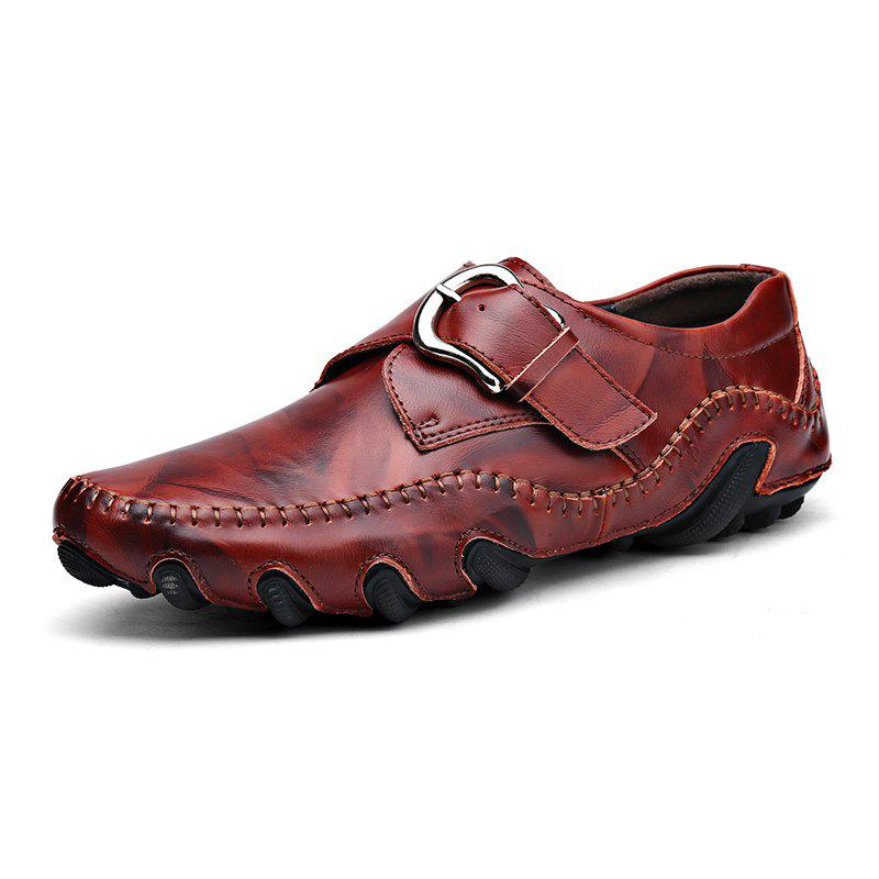 Octopus Hommes Cuir Casual Conduite Chaussures Pois