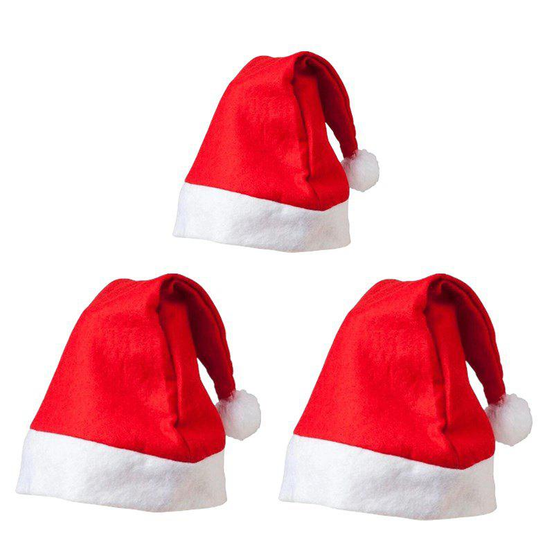 new non woven adult childrens christmas hat christmas gifts 3pcs