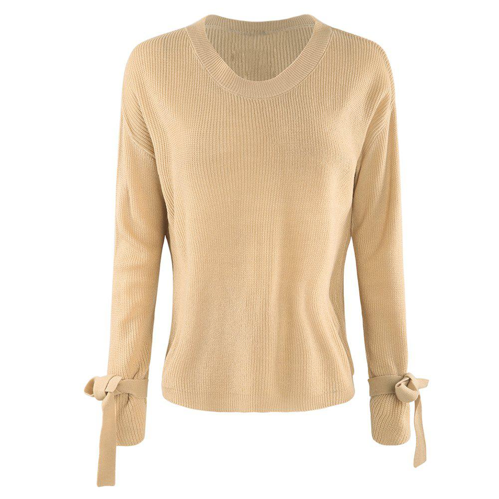 Best HAODUOYI Women'S Autumn Simple Sweater Yellow
