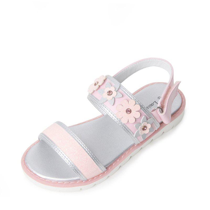 Louise Cliffe Girl'S Sandals Peep-Toe Princess Sandales plates antidérapantes Rose  EU 33