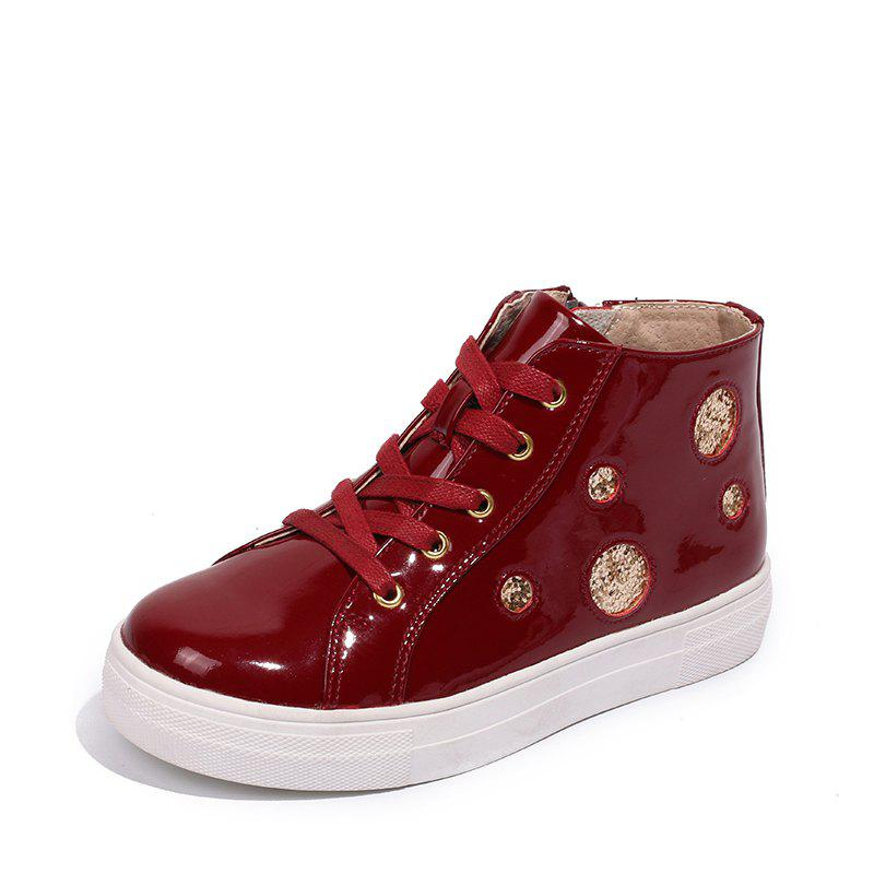 Unique Louise Cliffe Girls' Single Boots High-Top Children'S Sneaker Students' Shoes Lo