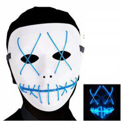 Glowing Mask Scary Cosplay LED Light up Mask for Gifts Costume Parties -