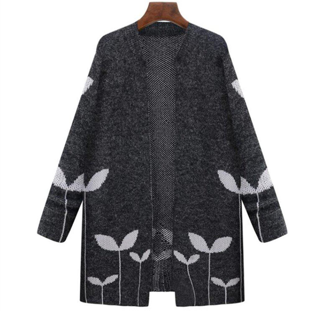 Unique Women's Plus Size Long Sleeve Sweater Coat