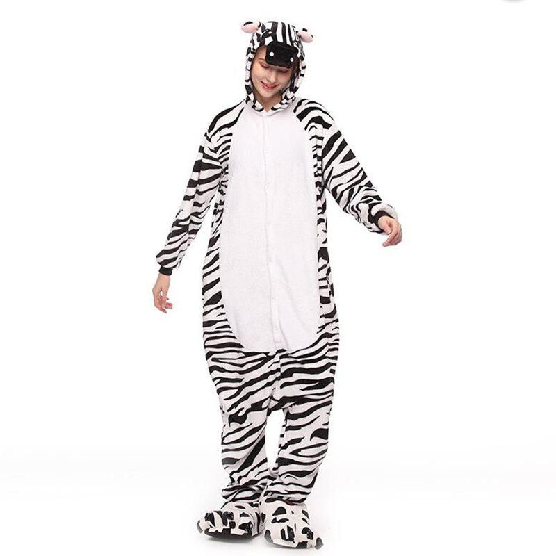 Sale Adult Zebra Animal Onesie Costume Pajamas for Adults and Teens