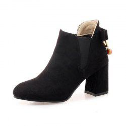 Round Rough Heels Sweet Butterfly Boots -