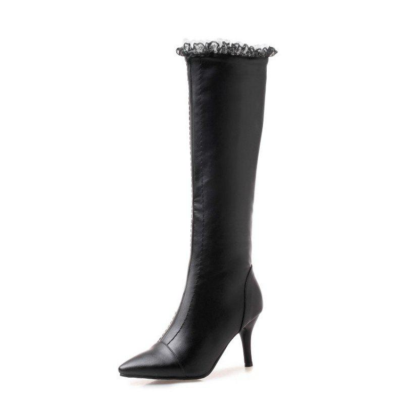 Discount Pointed Stiletto High Heel Sweet Ladies High Boots