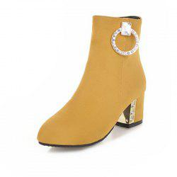 Pointed and Rough with Short Fashion Boots -