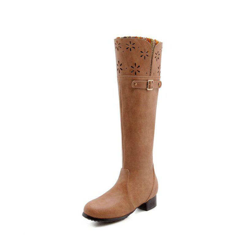 Sale Round Head Rough and Low Fashion High Boots
