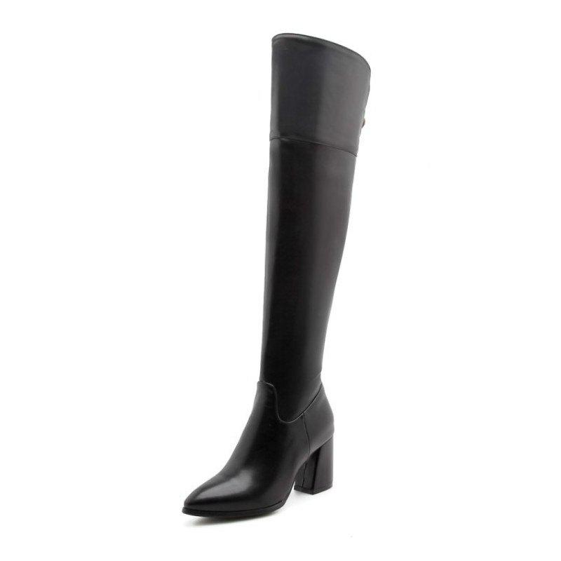 Sale Sharp Head and High Heel Fashion Simple Knee Boots
