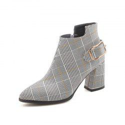 Coarse Pointed Heels All-Match Retro Boots -