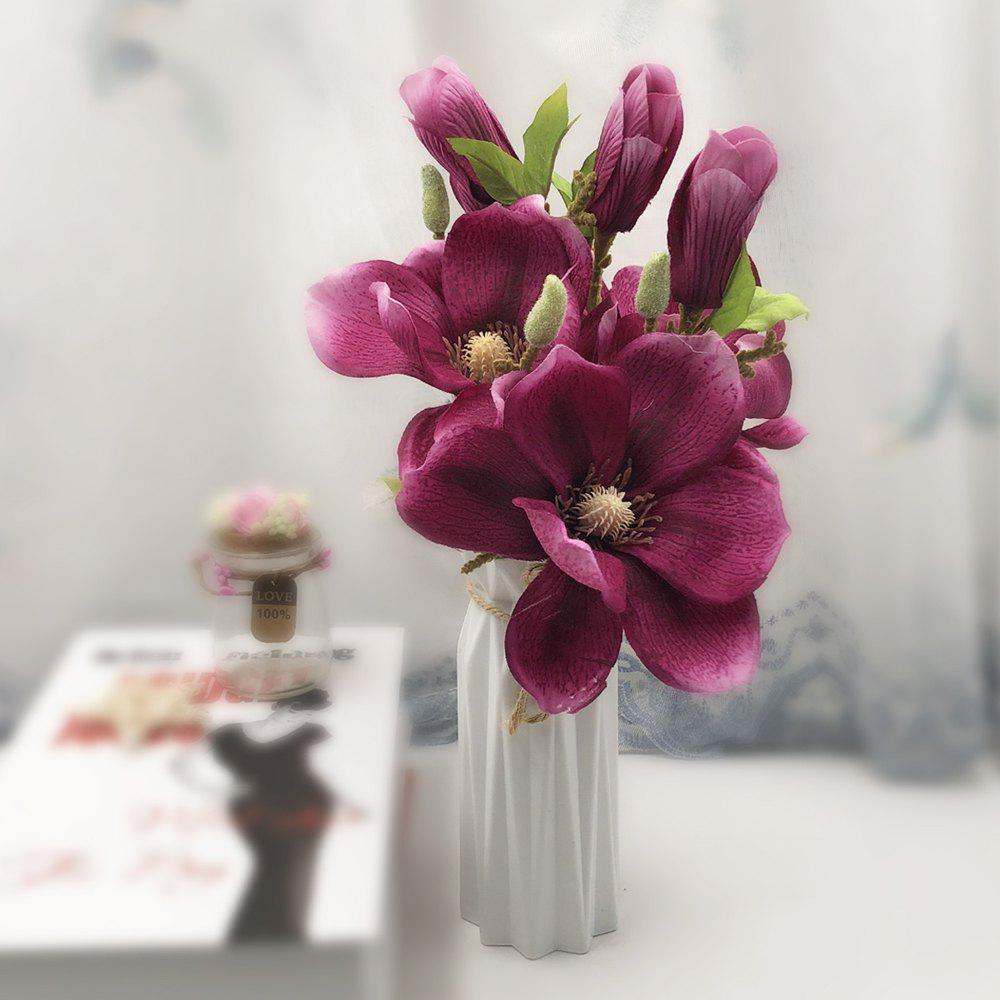 2018 Sweet A Bouquet Of Room Decoration Artificial Magnolia Silk