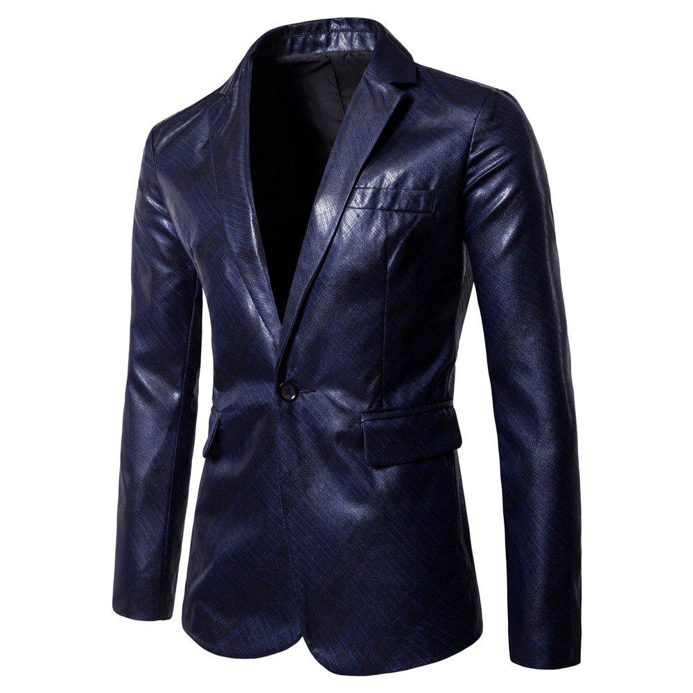 Online Men's  Casual Coated Twill Youth Slim Suit