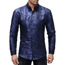 Plaid Design Men's Casual Slim Long-sleeved Shirt -